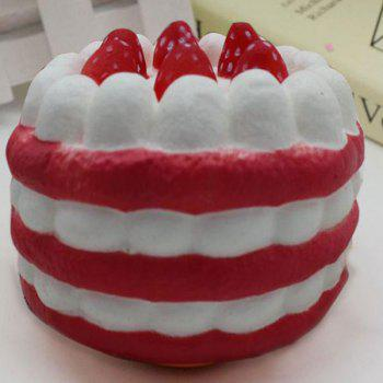 Slow Rising Squishy Toy Simulation Strawberry Cream Cake - RED RED