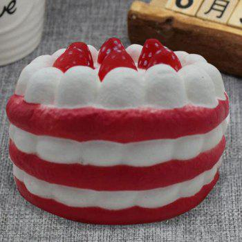 Slow Rising Squishy Toy Simulation Strawberry Cream Cake - RED