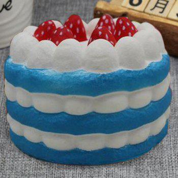 Slow Rising Squishy Toy Simulation Strawberry Cream Cake - BLUE