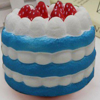 Slow Rising Squishy Toy Simulation Strawberry Cream Cake - BLUE BLUE