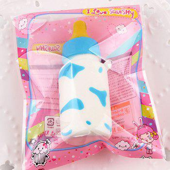 Milk Cow Print Feeding Bottle Squishy Toy