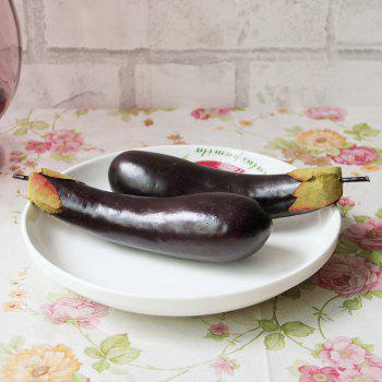 Foam Simulation Vegetable Artificial Decorative Eggplant - CONCORD