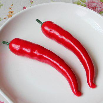 1 Pcs Artificial Foam Vegetable Decorative Simulation Cayenne Pepper - RED RED