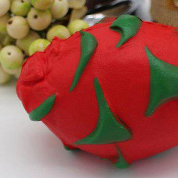 Pitaya Slow Rising Squishy Toy Simulation Fruit -  RED
