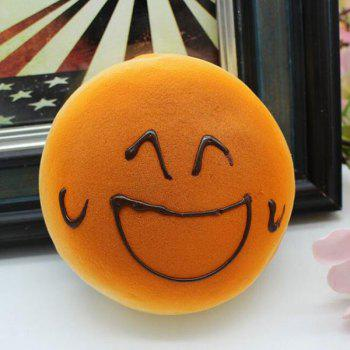 Simulation Food Smiling Face Bread Refrigerator Paste Squishy Toy