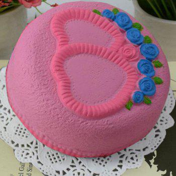 Love Heart Cake Slow Rising Squishy Food Simulation Toy - PINK PINK