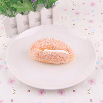 Early Education Prop Squishy Toy Simulation Bread - PASTER ORANGE PASTER ORANGE