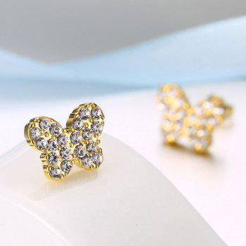 Tiny Rhinestone Butterfly Stud Earrings