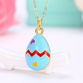 Heart Teardrop Egg Pendant Necklace