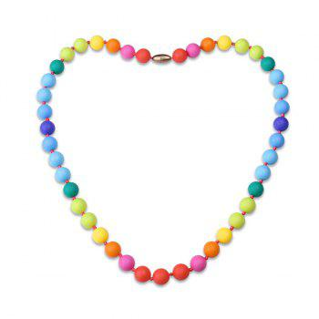 Rainbow Beaded Silicone Necklace