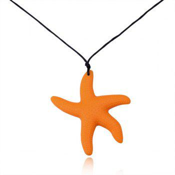 Silicone Rope Starfish Pendant Necklace