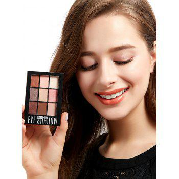 Shimmering 9 Colors Eyeshadow Palette with Brush -