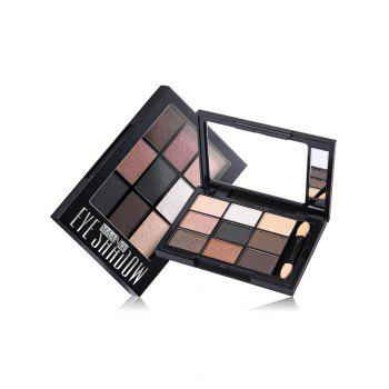 Shimmering 9 Colors Eyeshadow Palette with Brush