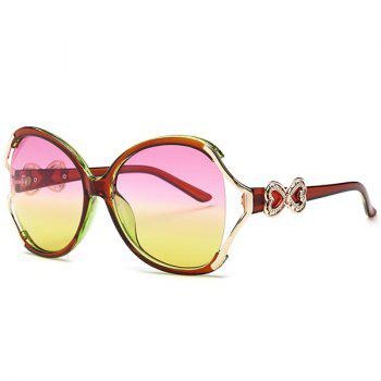 Tiny Bowkont Embellished Two Tone Wide Sunglasses