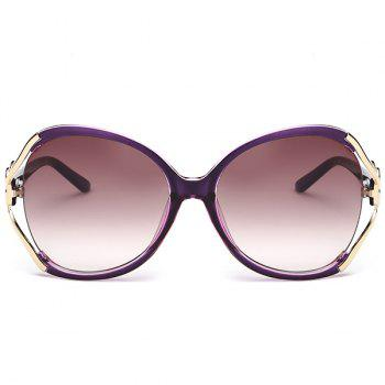 Tiny Bowkont Embellished Two Tone Wide Sunglasses - PURPLE