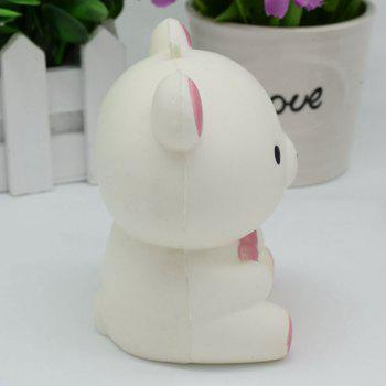 Stress Relief Bear Simulation Animal Slow Rising Squishy Toy -  WHITE