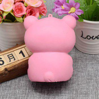 Stress Relief Bear Simulation Animal Slow Rising Squishy Toy - PINK
