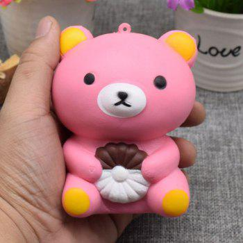 Stress Relief Bear Simulation Animal Slow Rising Squishy Toy - PINK PINK