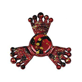 Paint Splatter Crown Metal Fiddle Toy Fidget Spinner - RED RED