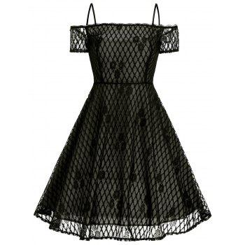 Vintage Lace Spaghetti Strap Dress