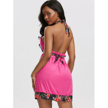 Halter Backless Mini Sexy Robe de plage Boho - Frutti de Tutti M