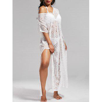 See Through Lace Maxi Cover Up Dress