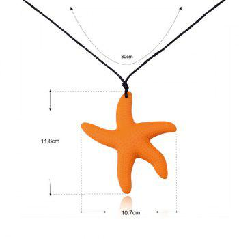 Silicone Rope Starfish Pendant Necklace - ORANGE