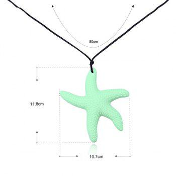 Silicone Rope Starfish Pendant Necklace - GREEN