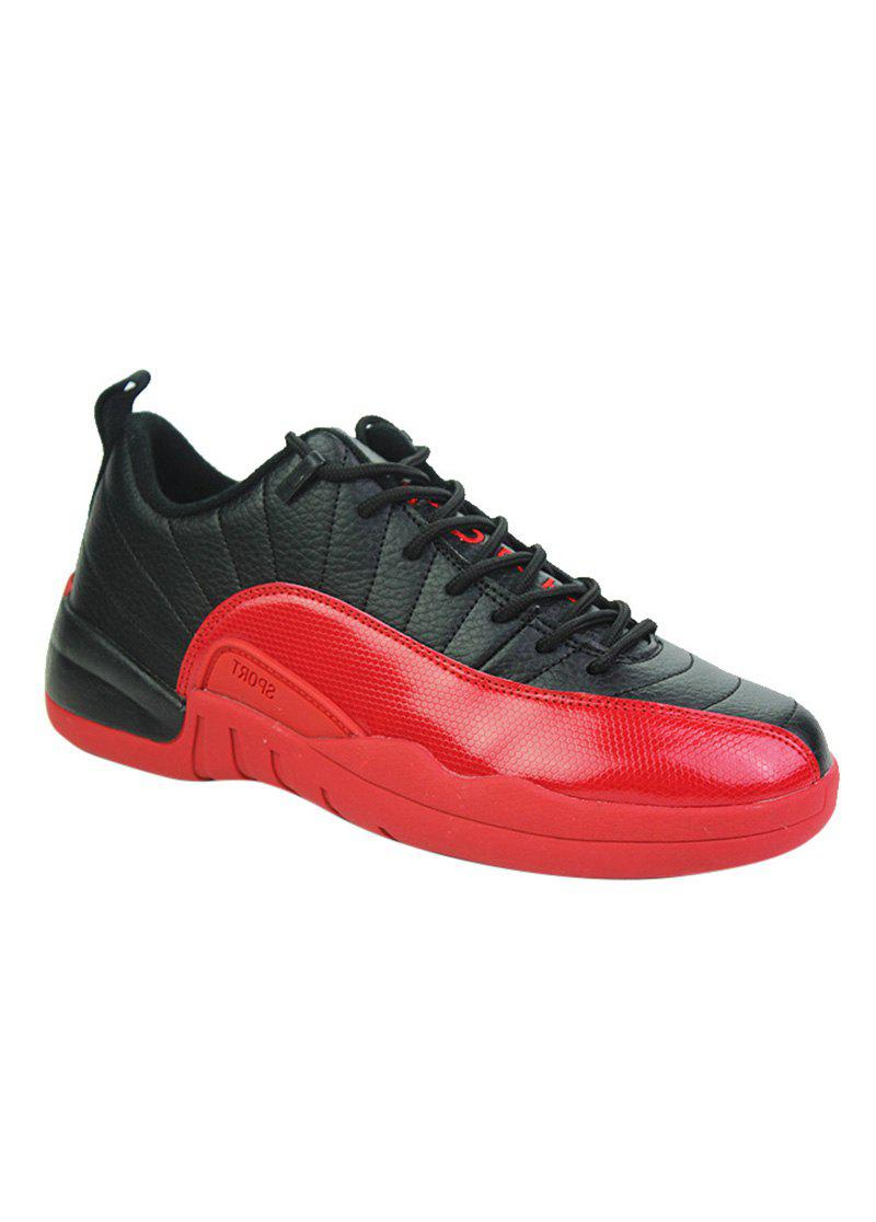Color Block Stitching Sports Shoes - RED 44