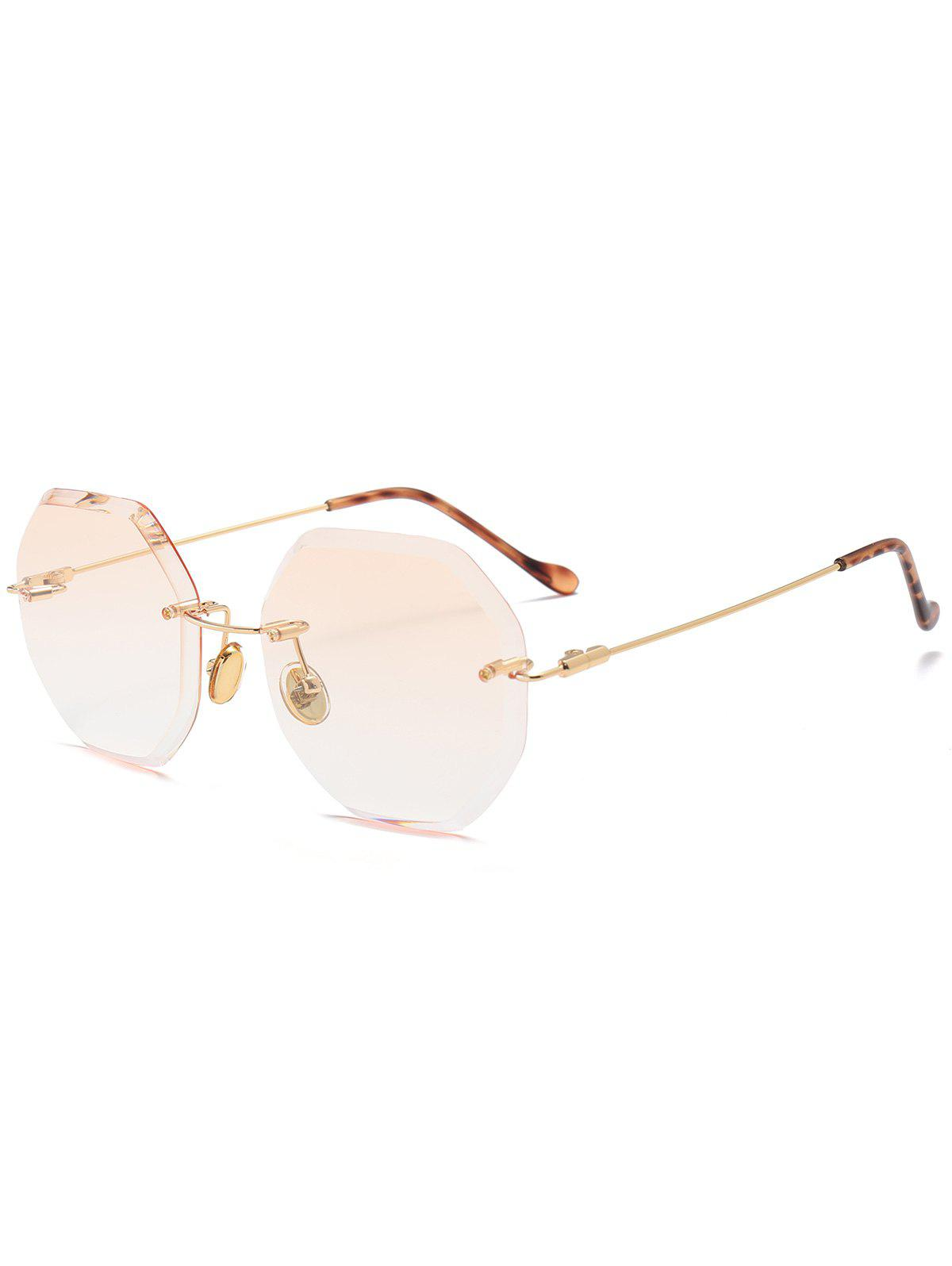 Geometrical Ombre Rimless Sunglasses - CHAMPAGNE