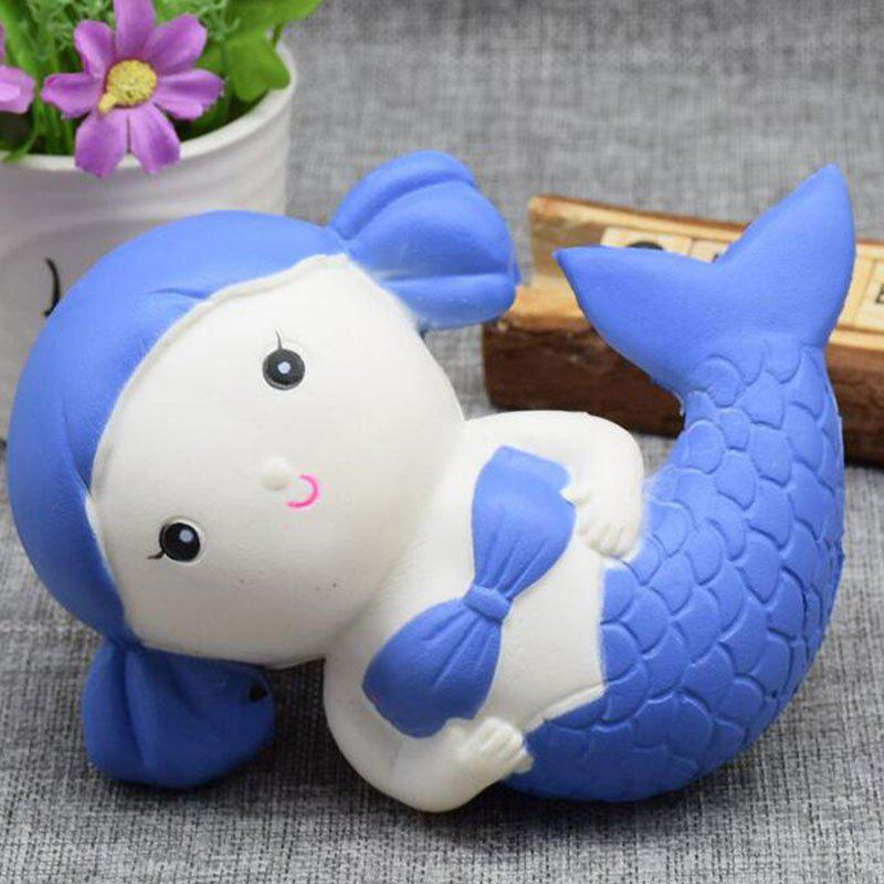 Cartoon Slow Rising Simulation Toy Squishy Mermaid - Bleu