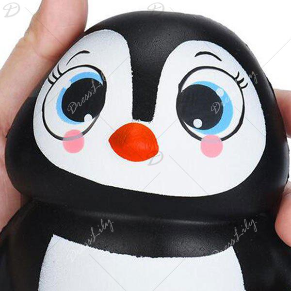 Cartoon Penguin Squishy Animal Slow Rising Simulation Toy - BLACK WHITE
