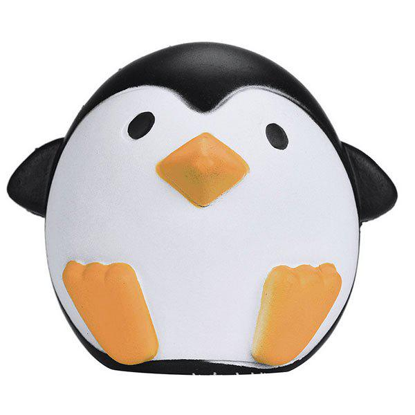 Cartoon Penguin Squishy Animal Slow Rising Simulation Toy - Noir