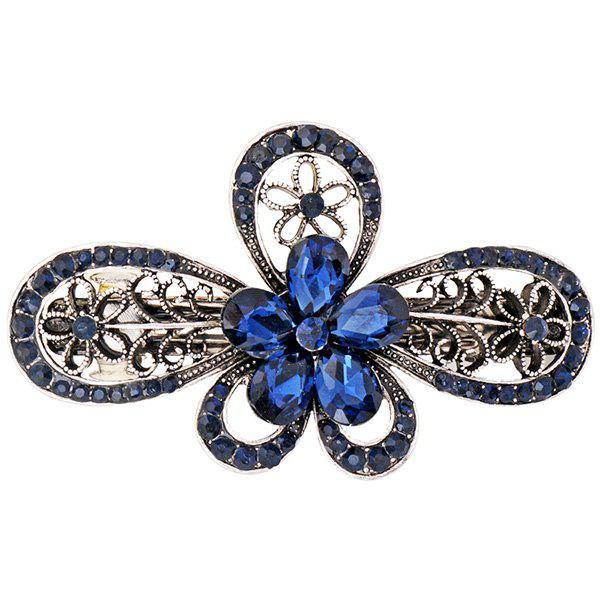 Artificial Diamond Inlaid Hollow Out Floral Barrette