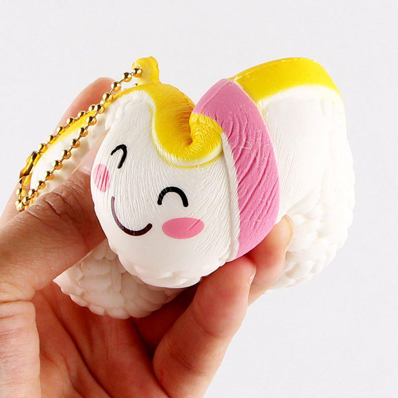 Cartoon Simulation Sushi Squishy Toy - WHITE