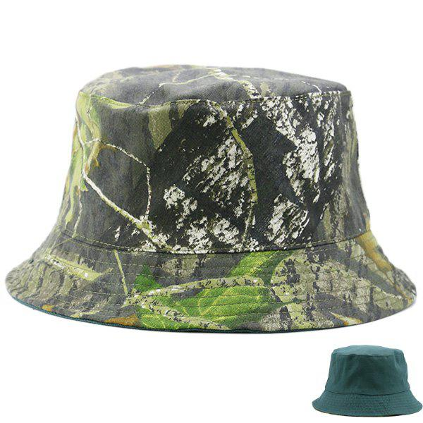Reversible Camouflage with Pure Color Bucket Cap 2017 new abu garcia 100