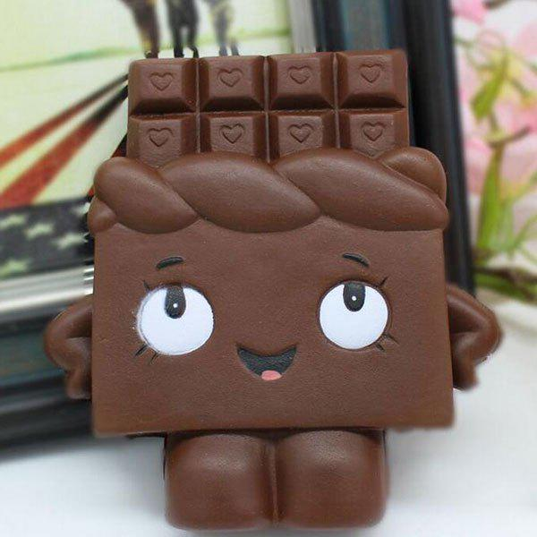 Slow Rising Squishy Chocolate Person PU Simulation Toy simulation cake bear pu slow rebound squishy food