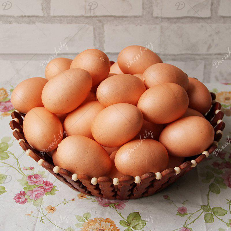 1 Pcs Artificial Foam Decorative Simulation Egg - Carnation