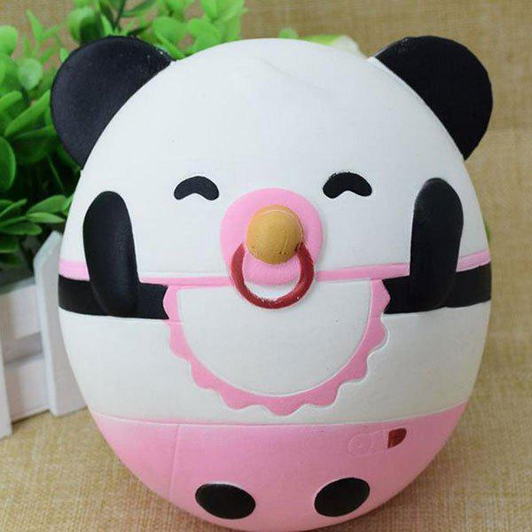 Nose Ring Panda Simulation Animal Slow Rising Squishy Toy - BLACK WHITE
