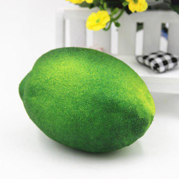 Simulated Lemon Shape Squishy Toy - GREEN