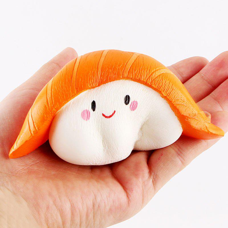 Cartoon Salmon Sushi Slow Rising Squishy Toy - YELLOW