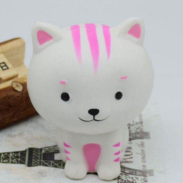 PU Slow Rising Simulation Animal Toy Squishy Cat - WHITE