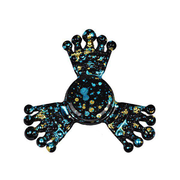 Paint Splatter Crown Metal Fiddle Toy Fidget Spinner - BLACK