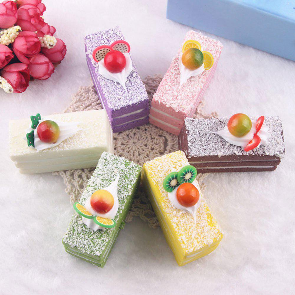 Random PU Fruit Cake Squishy Toy - RANDOM COLOR