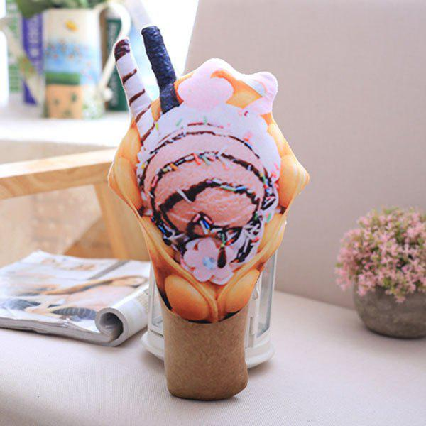 Simulation Food Ice Cream Squishy Toy Throw Pillow - PINK