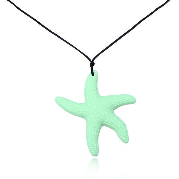 Silicone Rope Starfish Pendant Necklace, Green