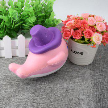 Scented Simulation Magic Hat Dolphin Cartoon Squishy Toy -  PINK