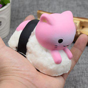 Animal Slow Rising Squishy Toy Simulation Sushi Rabbit - PINK