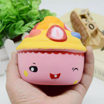 Slow Rising Squishy Food Ice Cream Cup Simulation Toy - PINK PINK
