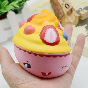 Slow Rising Squishy Food Ice Cream Cup Simulation Toy -  PINK